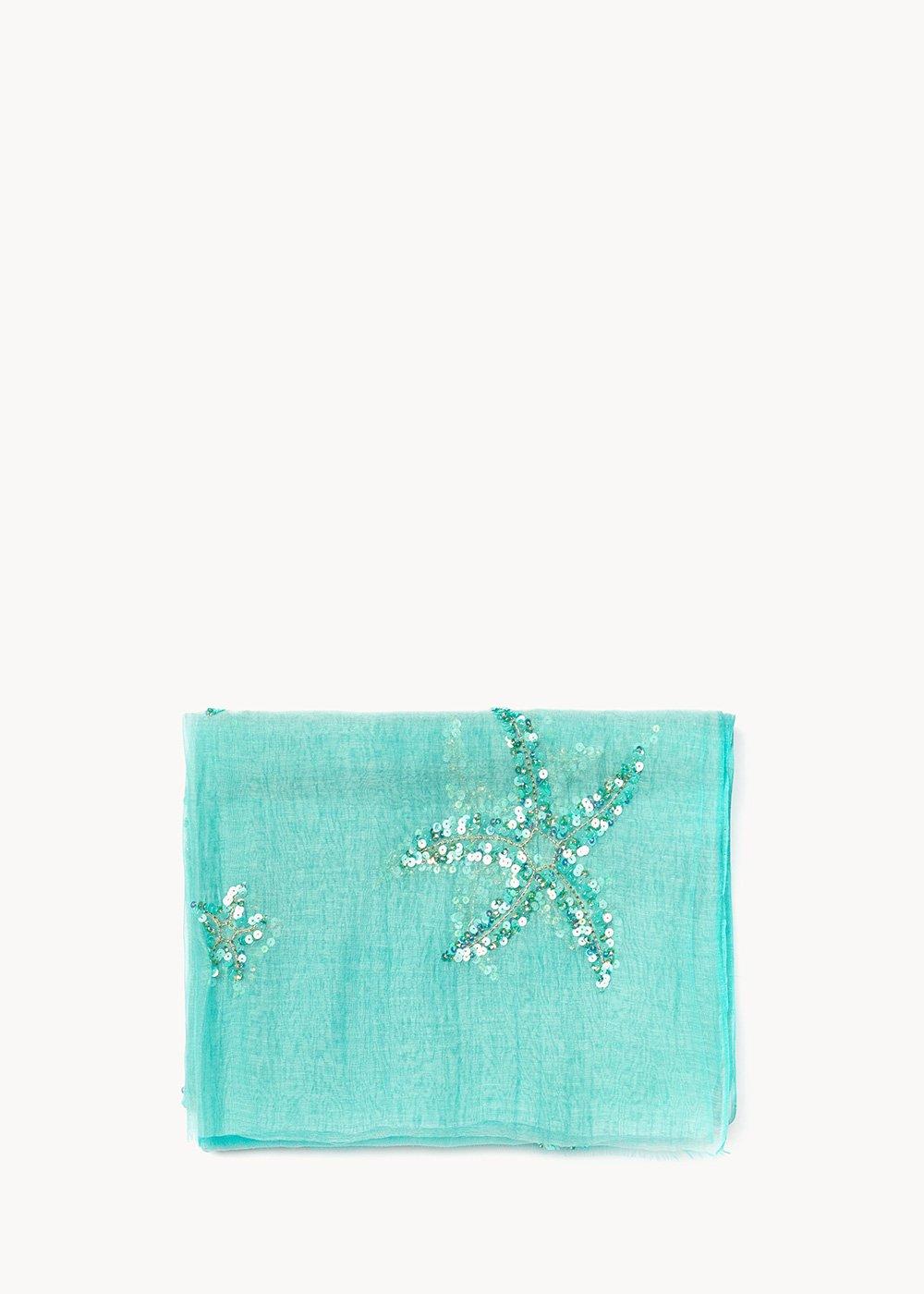Sandie emerald scarf - Emerald - Woman