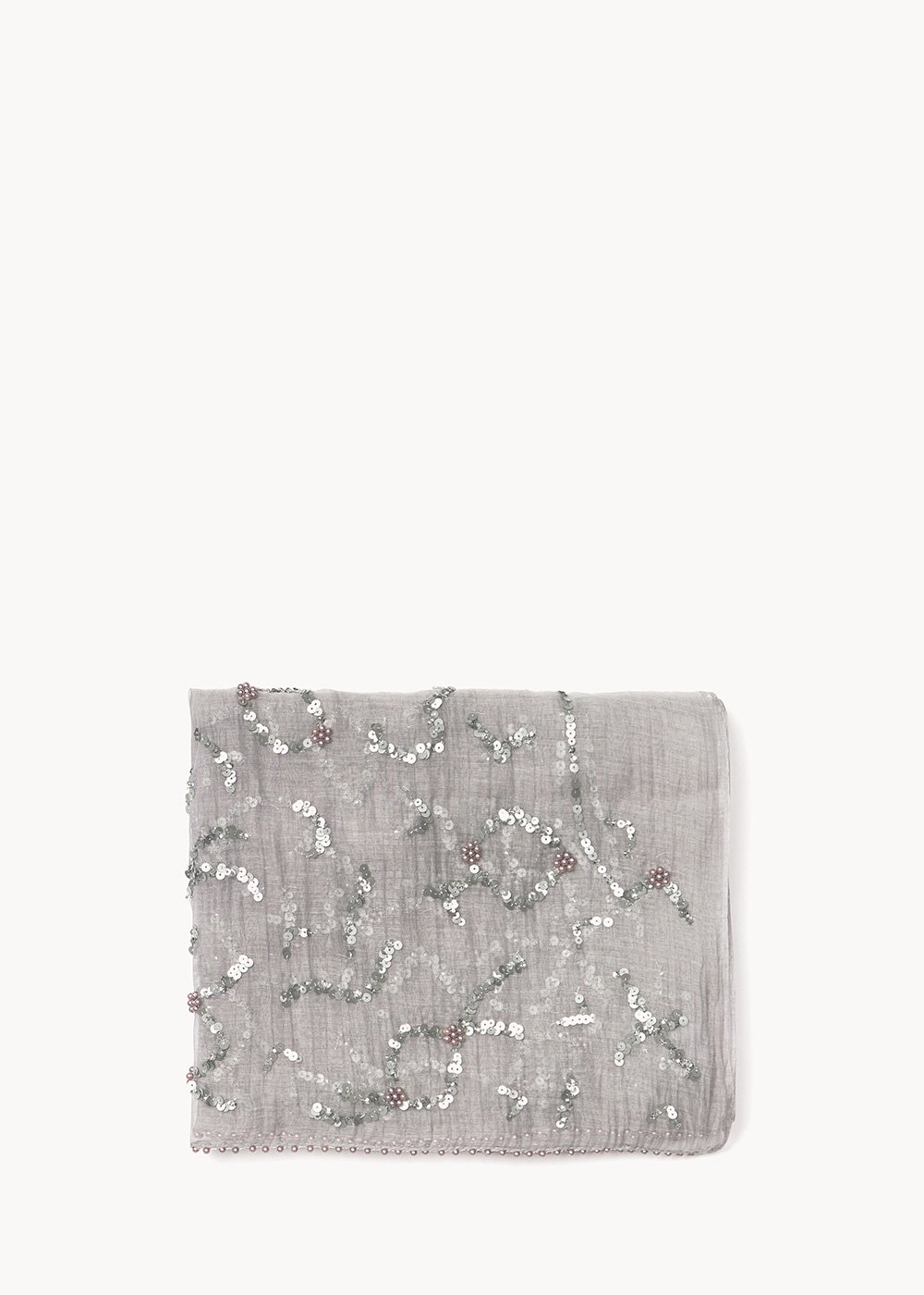 Sidney scarf with sequins at the bottom - Tofu - Woman