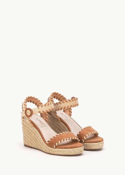 Sandalo Saint con impunture a contrasto