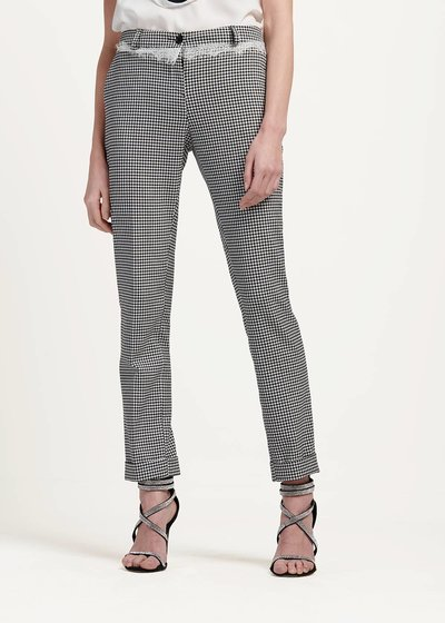 Bella trousers with black&white pattern