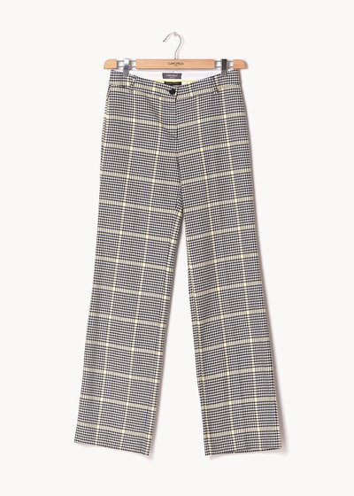 Clair trousers with check pattern