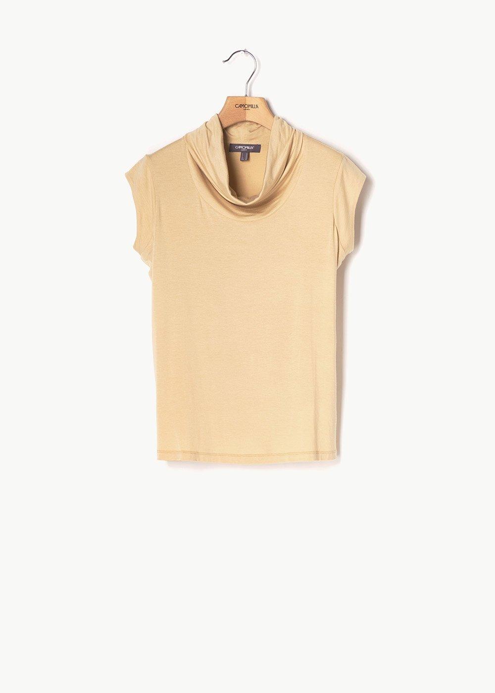 Teo top with cowl neck - Safari - Woman
