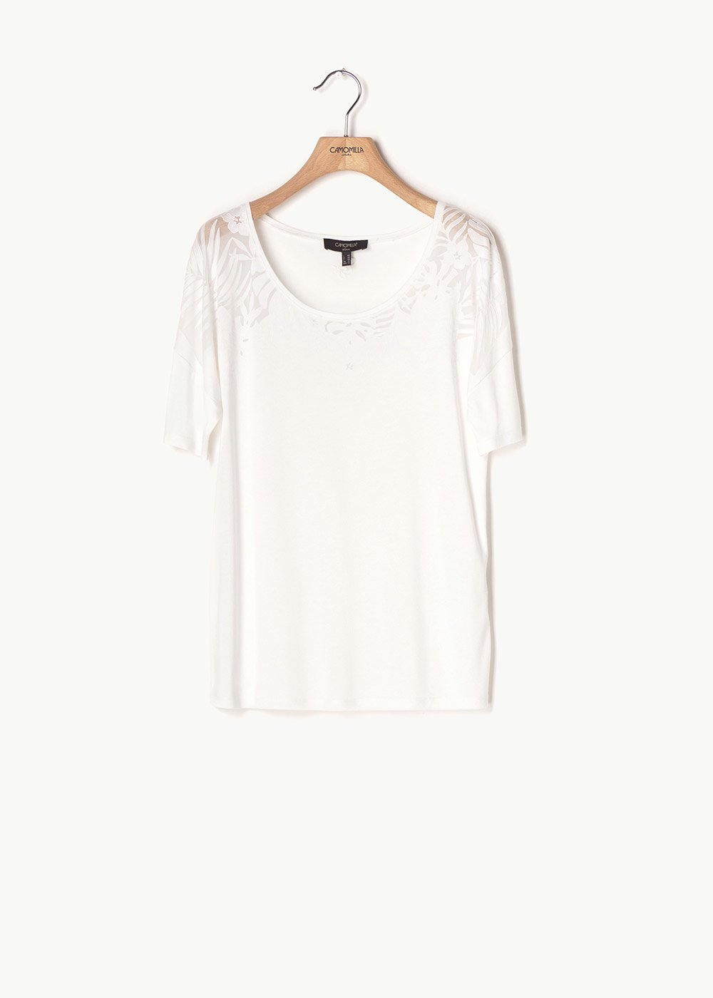 Stella embroidered T-shirt - White - Woman
