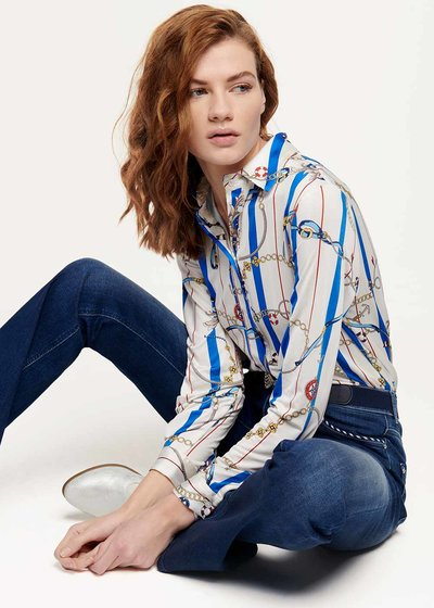 Crizia shirt with marine chains print