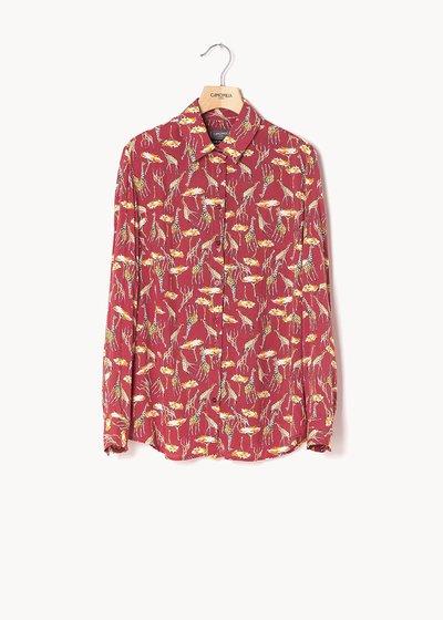 Camicia Alessia stampa giraffe