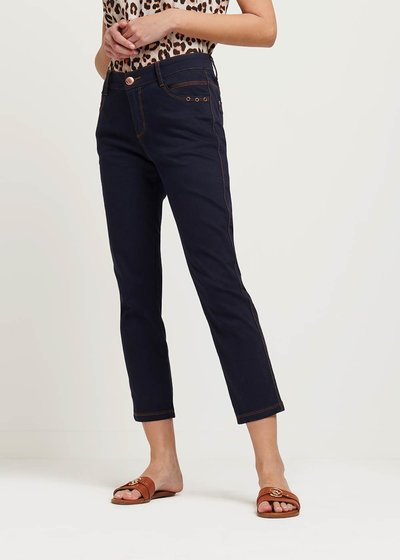 Pietro denim-effect capri pants