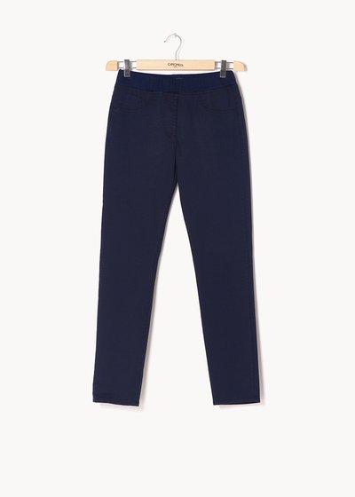 Pantaloni modello Kelly con elastico in tono