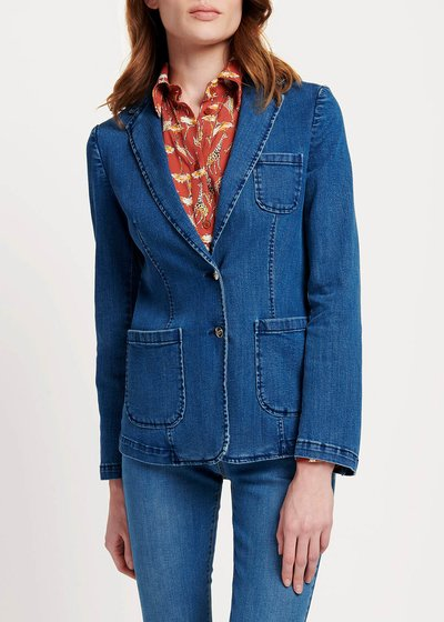 Giacca Kelly in denim due bottoni