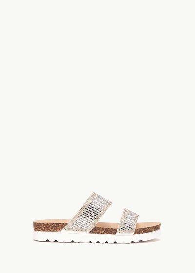 Sandalo Sherie con fascia di cristalli