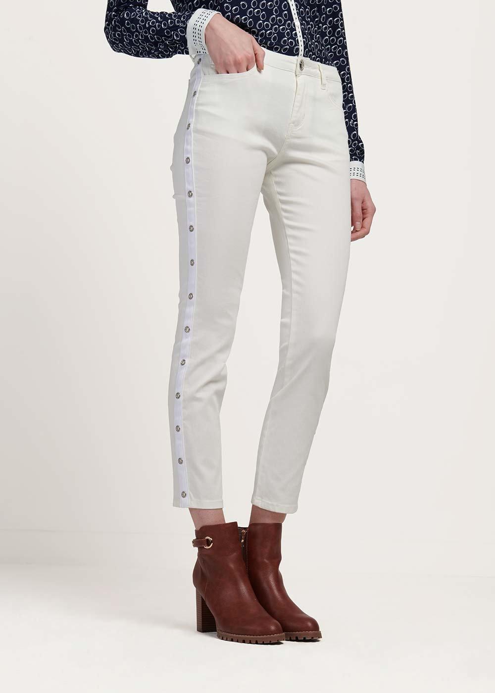 Pantalone Pinup modello pinocchietto - White - Donna