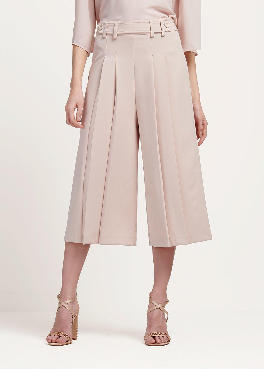 Paul wide leg capri trousers
