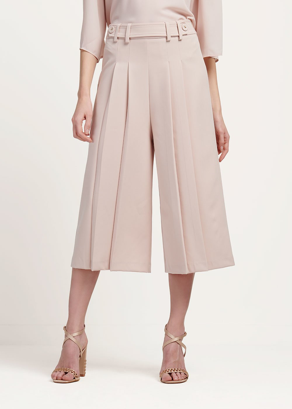 Paul wide leg capri trousers - Pink - Woman
