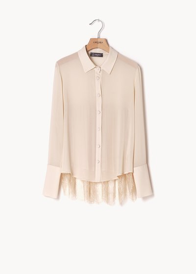 Clorinda shirt with lace on the back