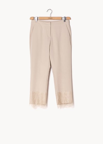 Palmer trousers with men's cut and lace at the bottom