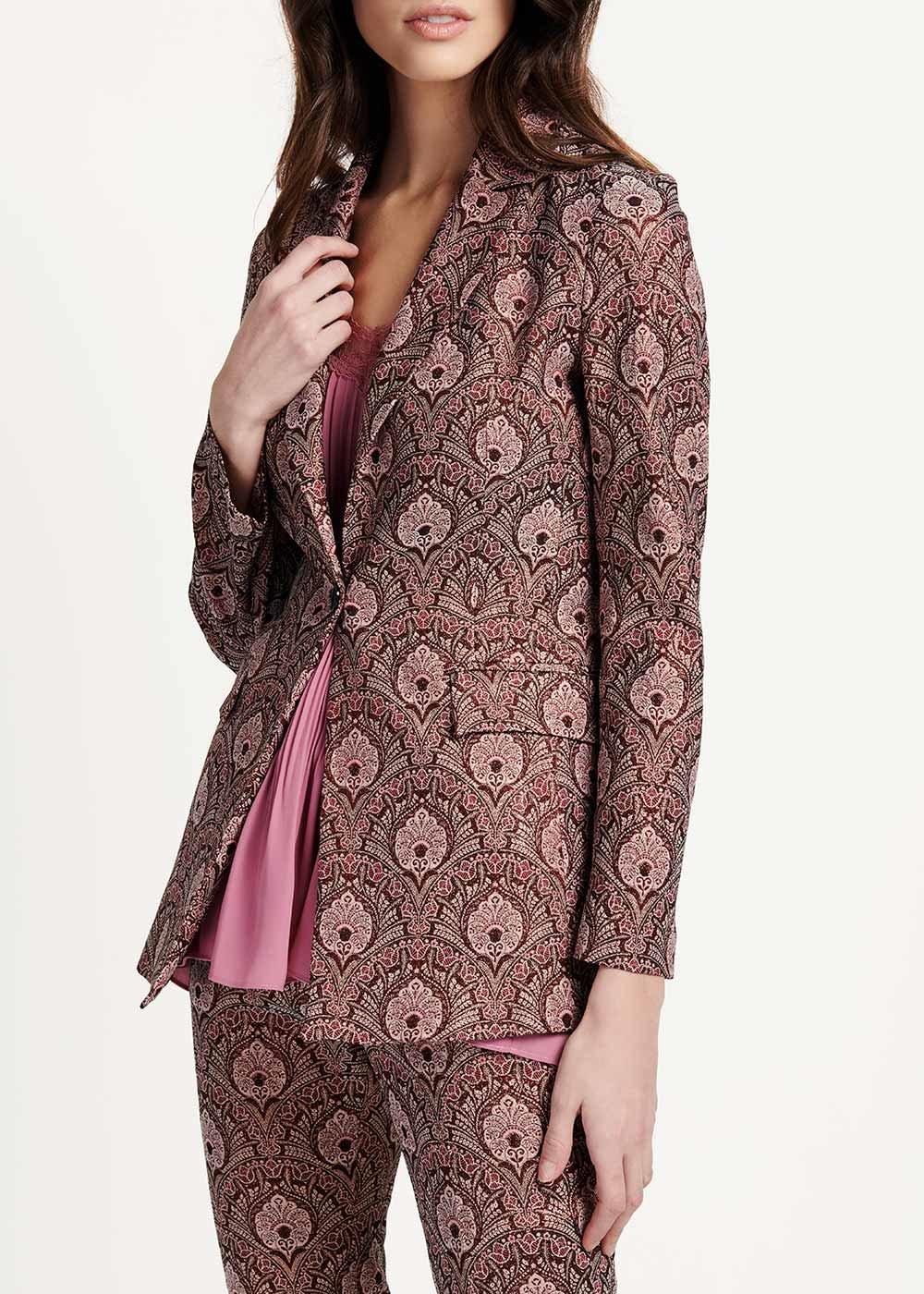 Giasmine damask jacket - Ciliegia / Sepia Fantasia - Woman