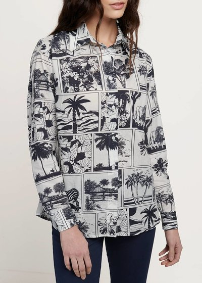 Alessia shirt with comic print