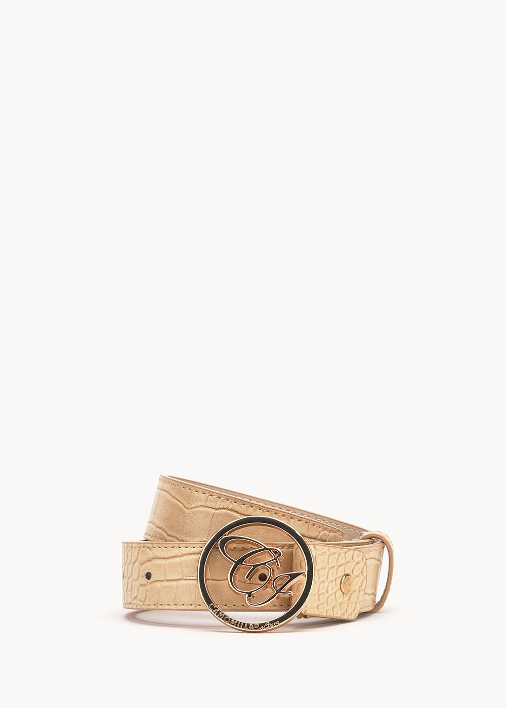 Codys belt with CI logo - Safari - Woman