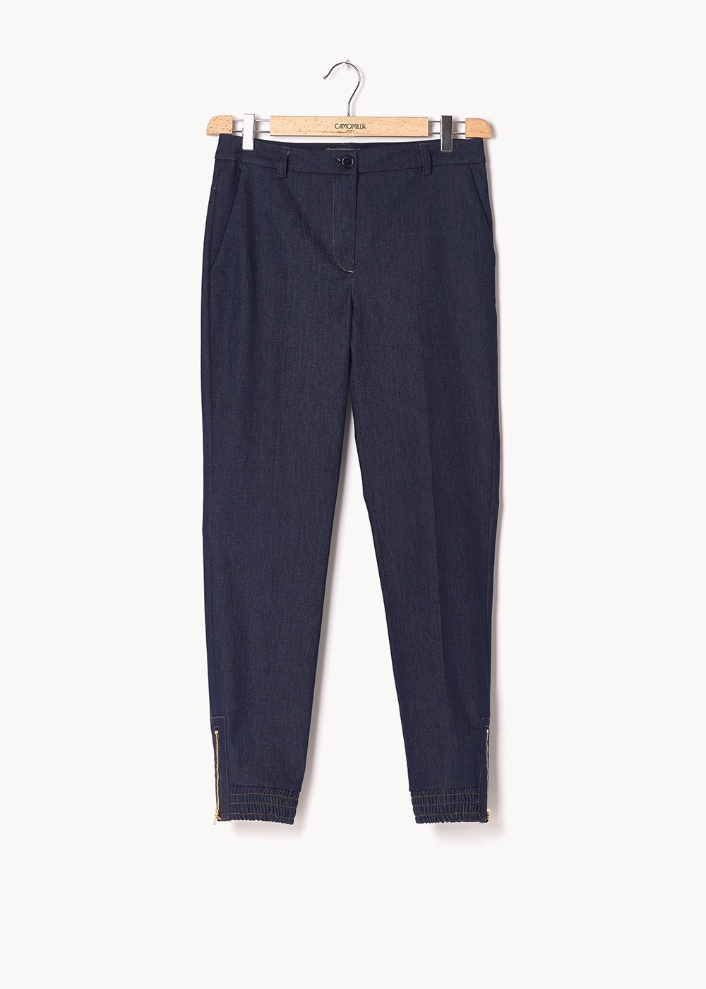 Jane trousers with denim effect - Dark Denim - Woman