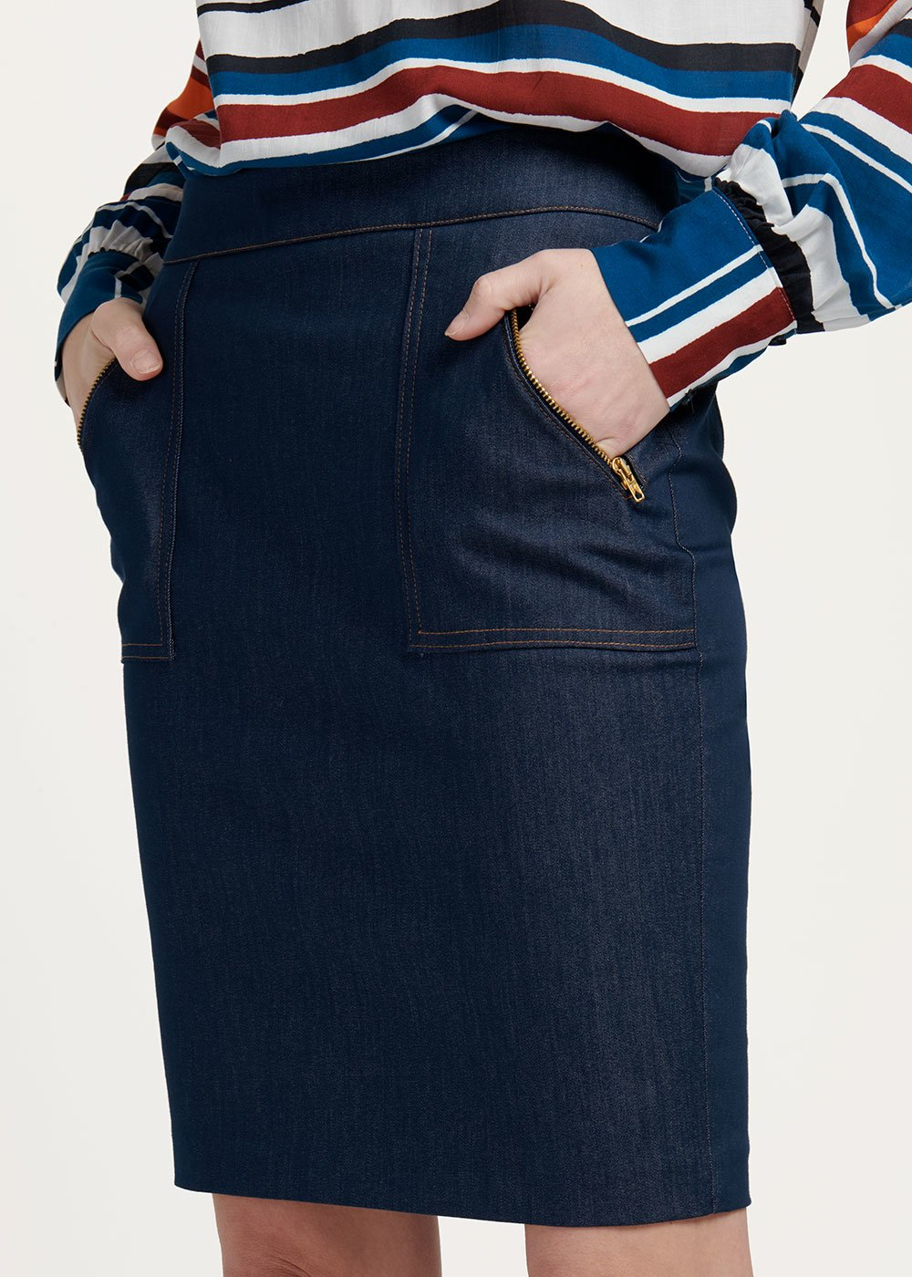 Georgia pencil skirt - Dark Denim - Woman