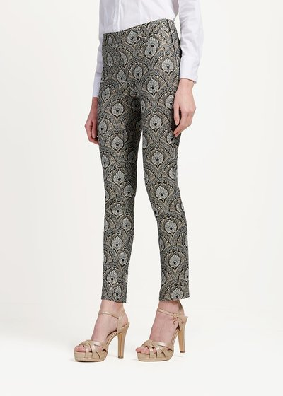 Cindy trousers with damask pattern