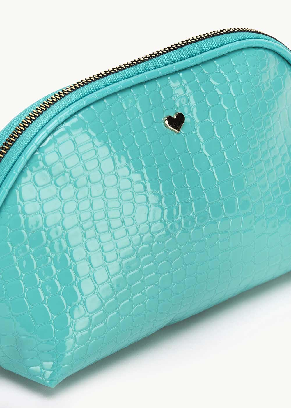 Birk vanity case with hammered effect - Emerald - Woman