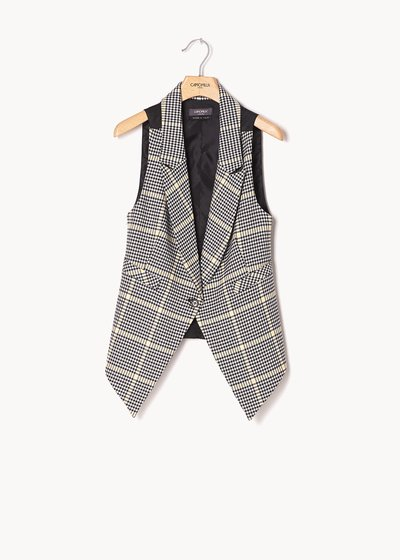 Gil waistcoat with checked pattern