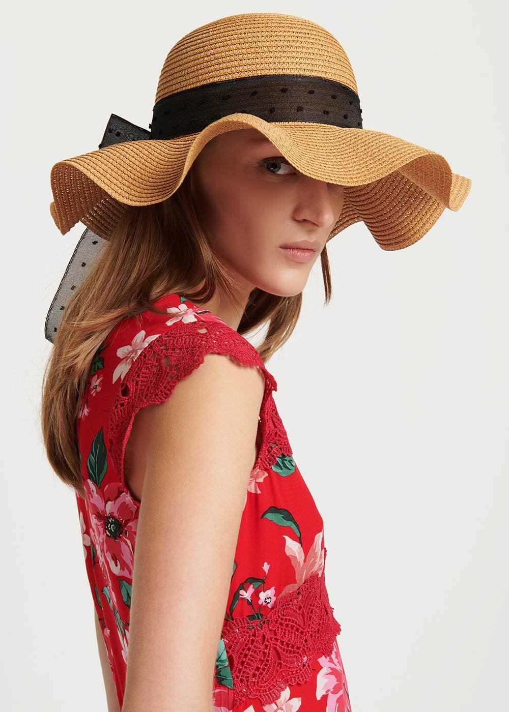 Cappello Calik con fascia a contrasto - Safari - Donna