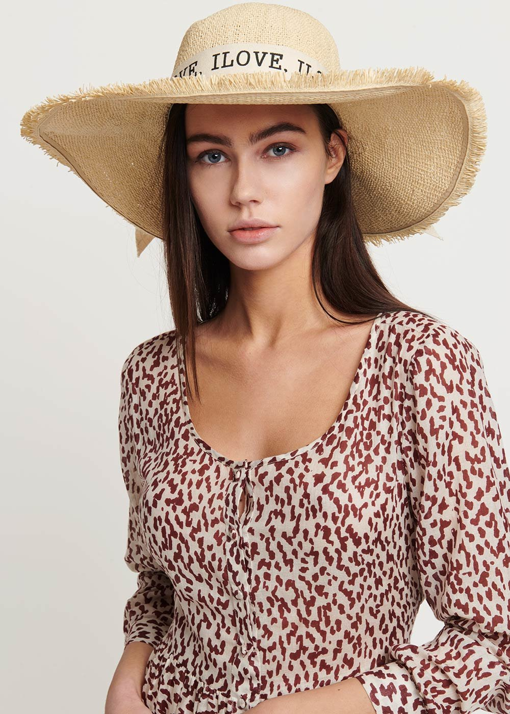 Calys hat with ribbon - Light Beige - Woman