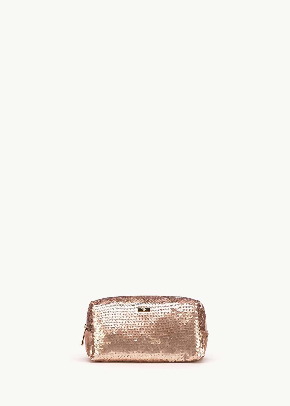 Baisy vanity case with sequins - Rose Gold - Woman