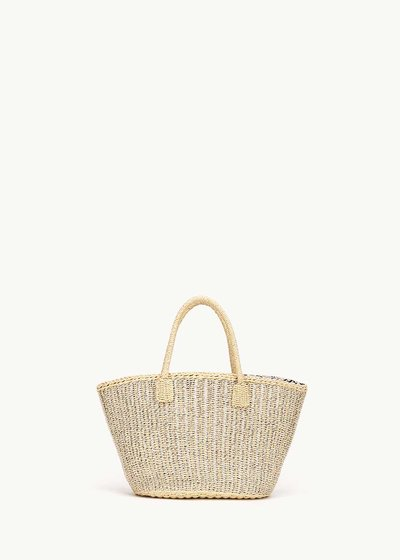 Balia straw bag with shoulder strap
