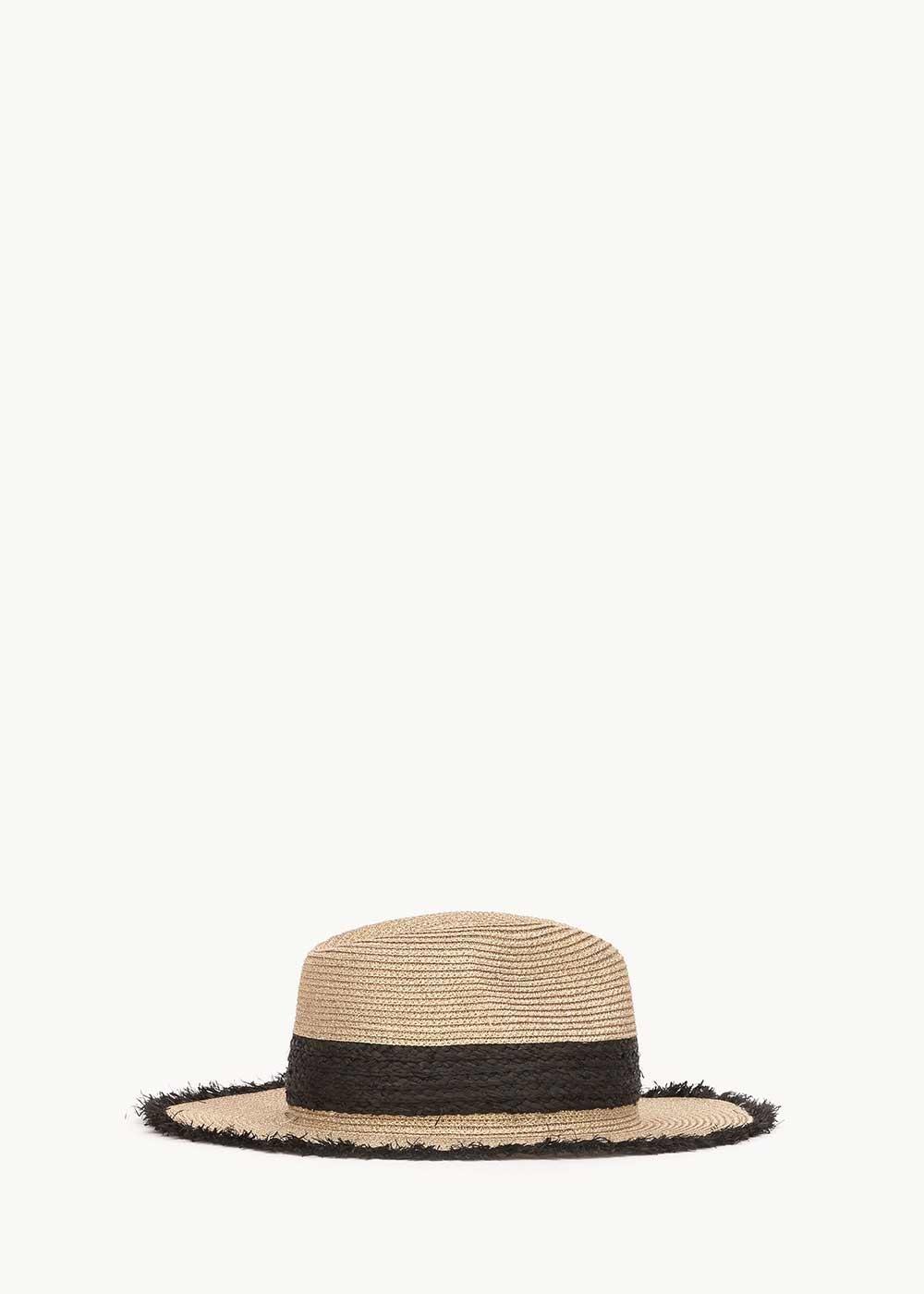 Cappello Cadys con fascia nera a contrasto - Light Beige - Donna