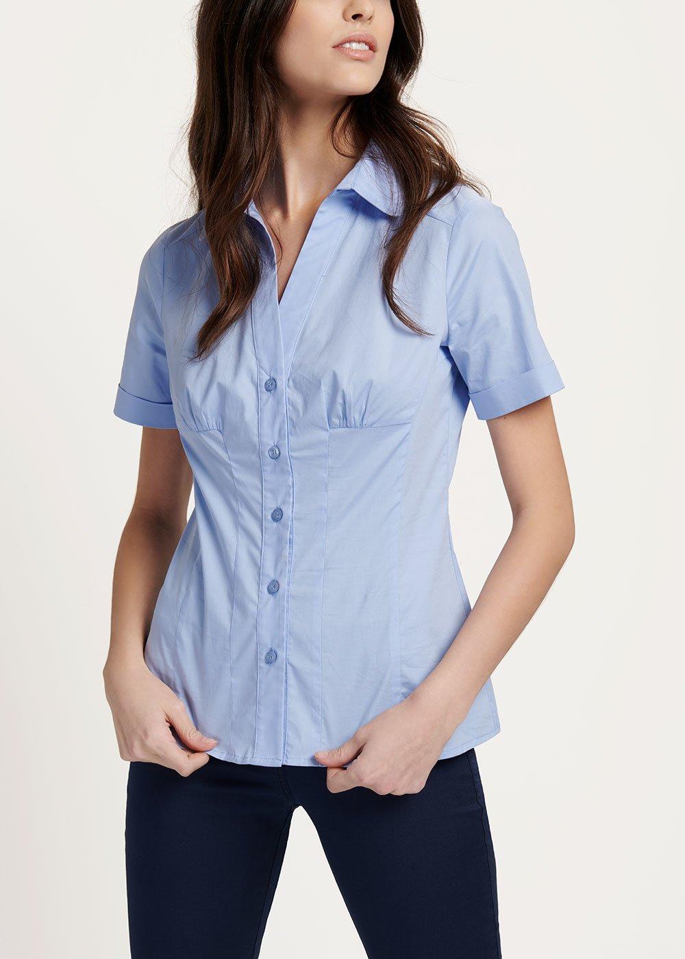 Scarlette shirt with short sleeves - Rugiada - Woman