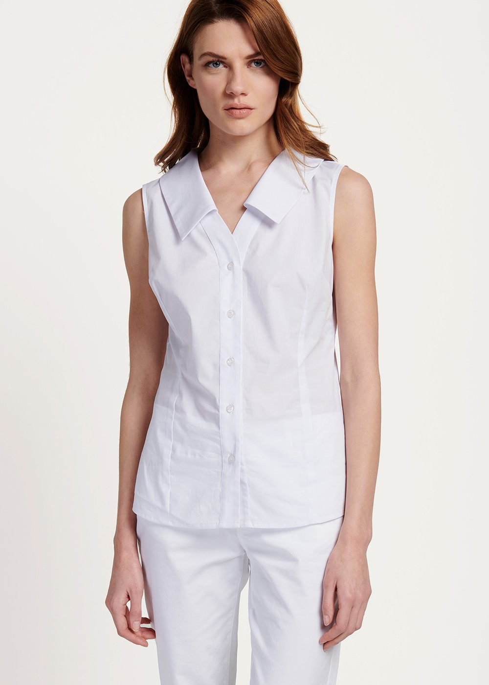 Sara shirt with armholes - White - Woman