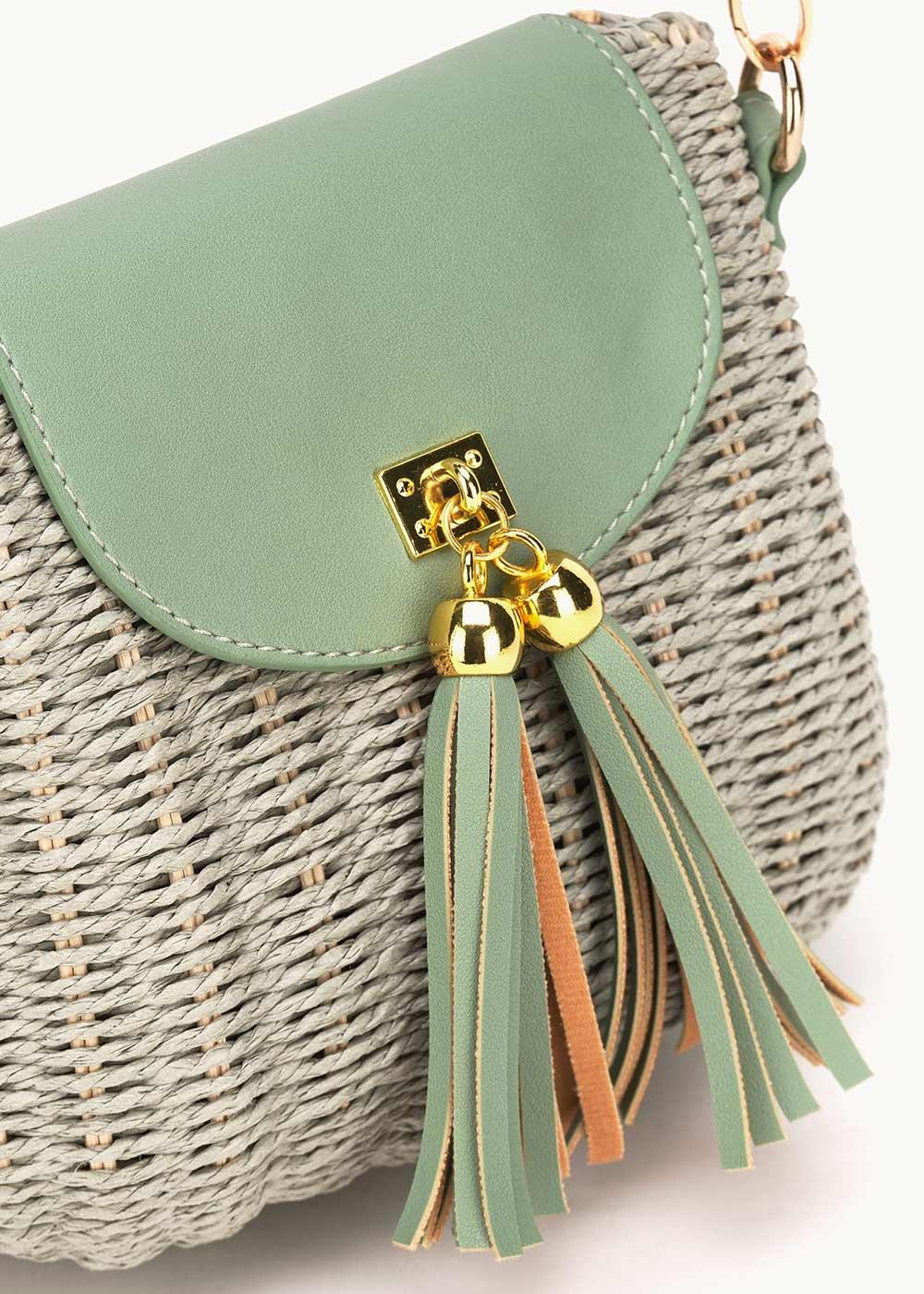 Belan wicker bag with tassels - Red - Woman