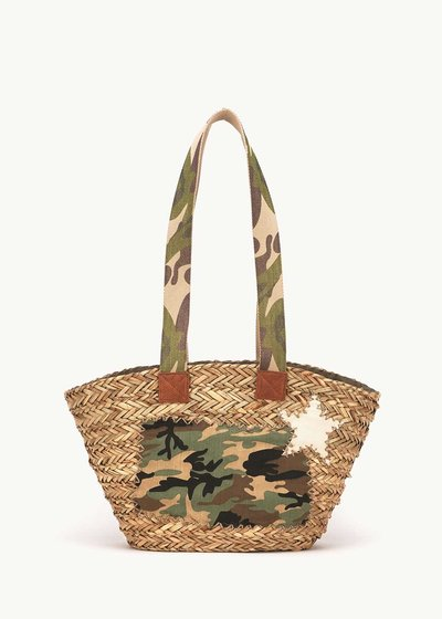 Bairy bag with military-pattern details