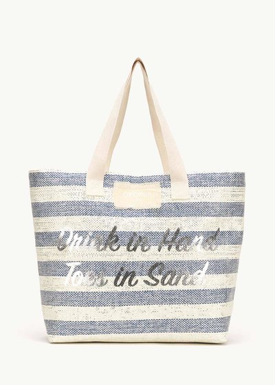 Barney beach bag with lurex