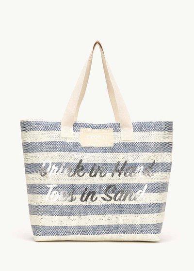 Barney beach bag with lurex