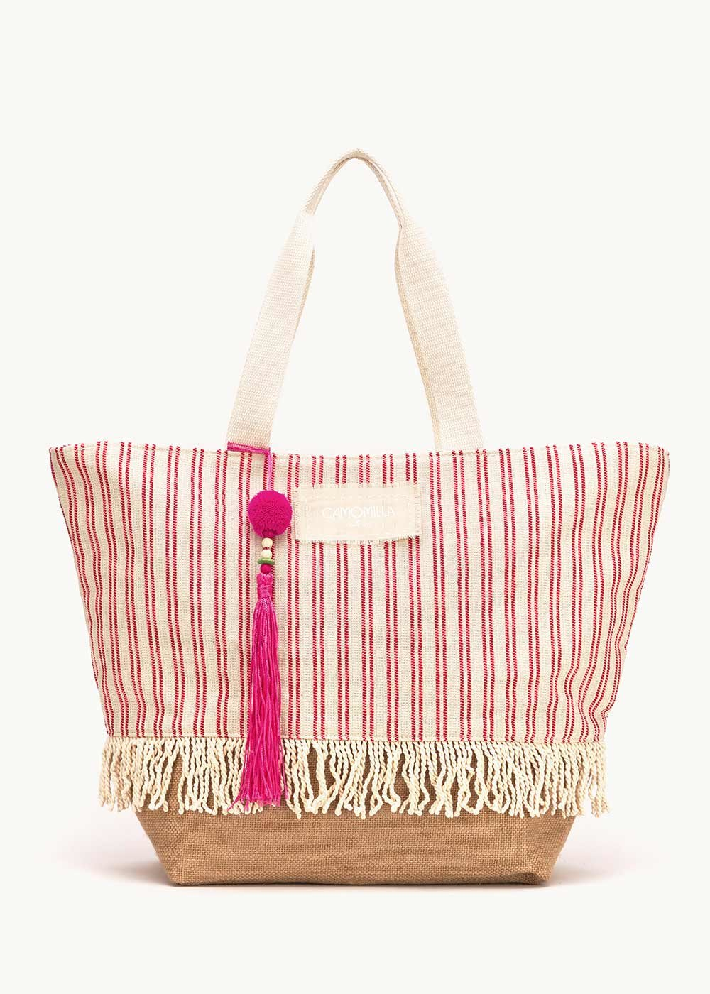 Borsa Barth fantasia righe - White / Aragosta Stripes - Donna