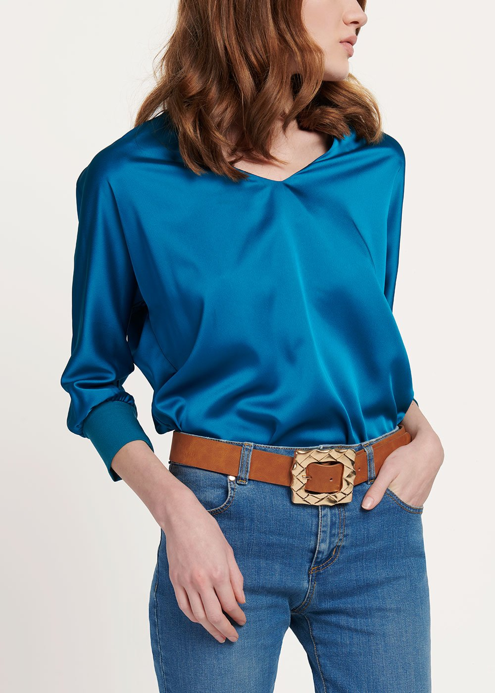 T-shirt Sharan in viscosa - Marina - Donna