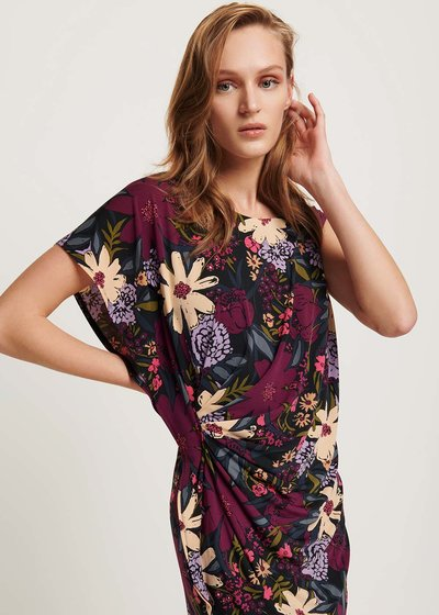 Aster dress with floral pattern