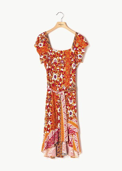Abiss dress with coloured pattern