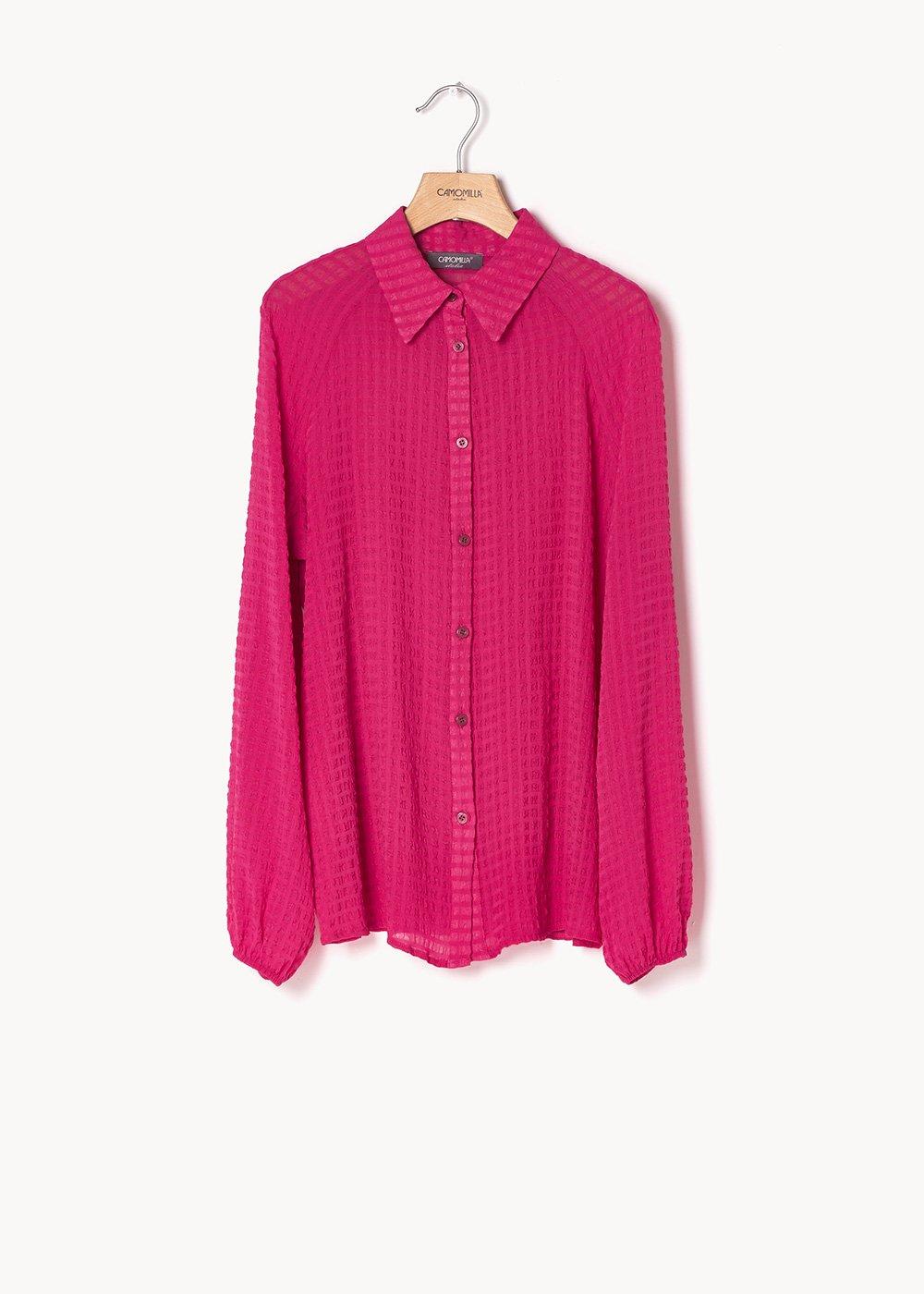 Carol shirt in seersucker - effect fabric - Gloss - Woman