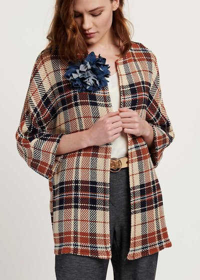 Clelia plaid shrug