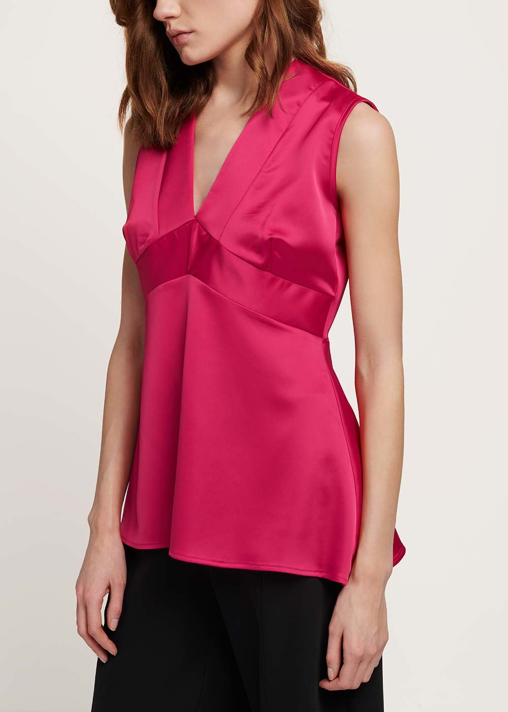 Trudie V-neck top - Gloss - Woman