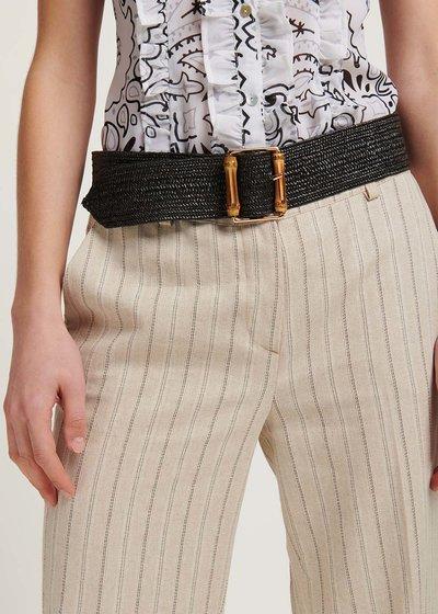 Caryl raffia belt
