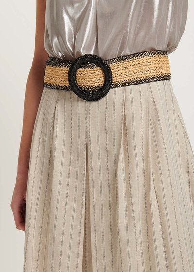 Crispy two-tone belt
