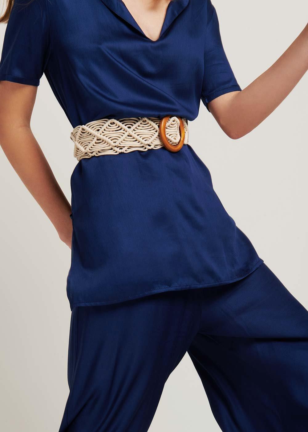 Christy woven belt - Light Beige - Woman