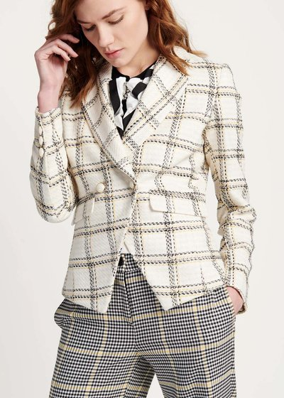 Giordy jacket in mixed checked fabric