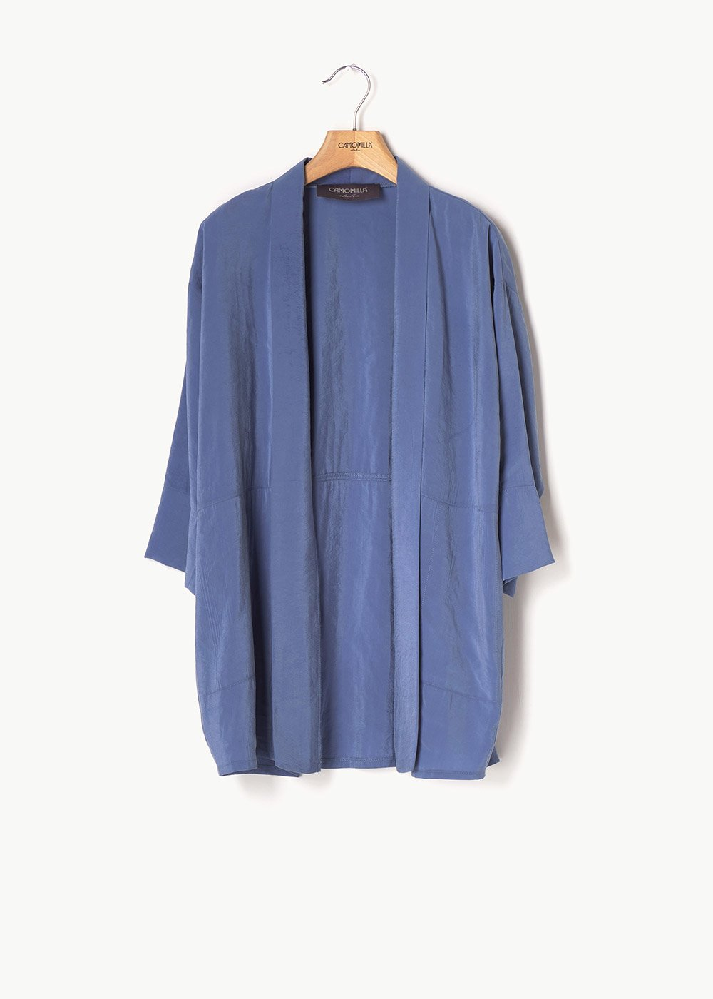 Curtis shrug with 3/4 length sleeves - Blue - Woman