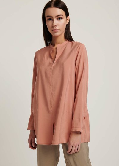 Cora silk-effect shirt
